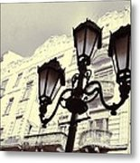 Street Lamps Of Budapest Hungary Metal Print