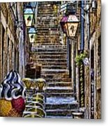 Street Lane In Dubrovnik Croatia Metal Print