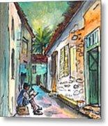 Street Life In Nicosia Metal Print