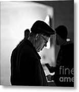 Street Photography - At The Store Metal Print