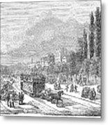 Street Railway, 1853 Metal Print