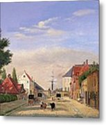 Street Scene Metal Print by Danish School