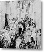 Street Scene In Athens Greece - C 1919 Metal Print