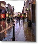 Street Scene Outside Windsor Castle Metal Print