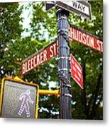 Street Signs In Nyc Metal Print