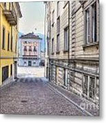 Street With Houses Metal Print