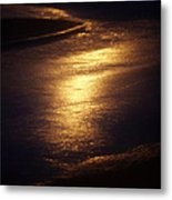 Gold Water On The Street Metal Print