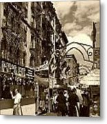 Streets Of Little Italy Metal Print