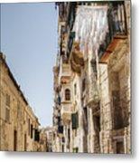 Streets Of Valetta Metal Print