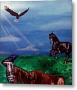 Strenght And Flight Metal Print