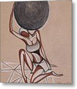 Strenght Of A Woman Metal Print by Chibuzor Ejims