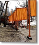 Strolling Through Central Park Metal Print
