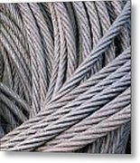 Strong Wire Rope Metal Print