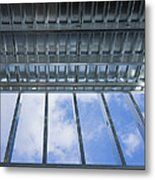 Structural Steel Construction Of An Metal Print by Don Mason