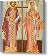 Sts Constantine And Helen Metal Print by Julia Bridget Hayes