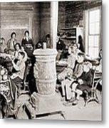 Students In A One-room School Metal Print