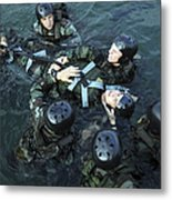 Students Secure A Simulated Casualty Metal Print