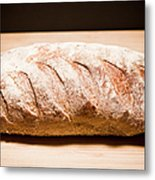 Studio Shot Of Loaf Of Bread Metal Print by Kristin Lee