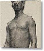 Study Of A Negro Man Metal Print