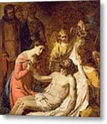 Study Of The Lamentation On The Dead Christ Metal Print