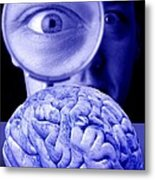 Studying The Brain, Conceptual Image Metal Print
