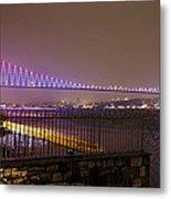 Stunning Istanbul Bridge Metal Print