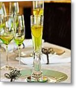 Stylish Dining Table Arrangement Metal Print