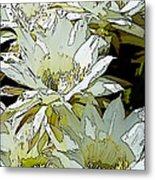 Stylized Cactus Flowers Metal Print