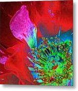 Stylized Flower Center Metal Print