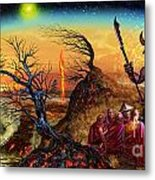 Submit As The World Burns Metal Print