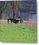 Subsoiler On The Farm  Metal Print
