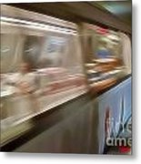 Subway Blur Metal Print