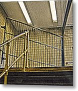 Subway Exit In New York Metal Print