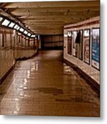 Subway Tunnel Metal Print
