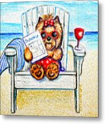 Sudoku At The Beach Metal Print