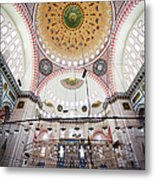 Suleymaniye Mosque Interior Metal Print