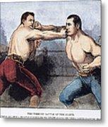 Sullivan & Kilrain Fight Metal Print