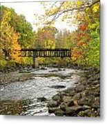 Sulphite Covered Bridge Metal Print