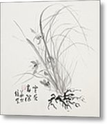 Sumi-e Four Metal Print