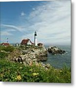Summer At Portland Head Light Metal Print