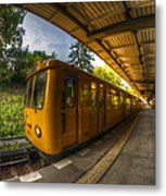 Summer Eveing Train. Metal Print