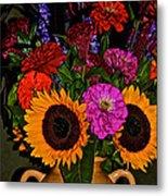 Summer Flower Bouquet Metal Print