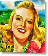 Summer Girl Metal Print by Mo T