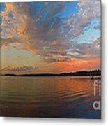 Summer Night At Sebago Lake Metal Print