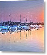 Summer Sails Reflections Metal Print