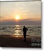 Summer Sunset Solitude Metal Print