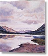 Summit Lake Evening Shadows Metal Print