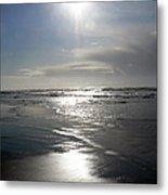 Sun And Silver Sea Metal Print
