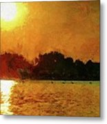 Sun Burned Metal Print