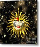 Sun Face  Metal Print